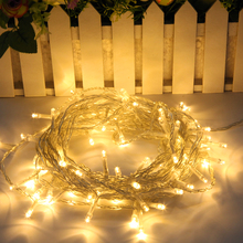 купить NEW 10M 100LED String Light, Waterproof LED Fairy Lights with Copper Wire Party Wedding Xmas Festival Garden Kitchen Decoration по цене 302.21 рублей