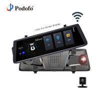 Podofo Touch Car DVR WIFI 3G Dual Lens Camera Android 5 0 Navigators Video Recorder FHD