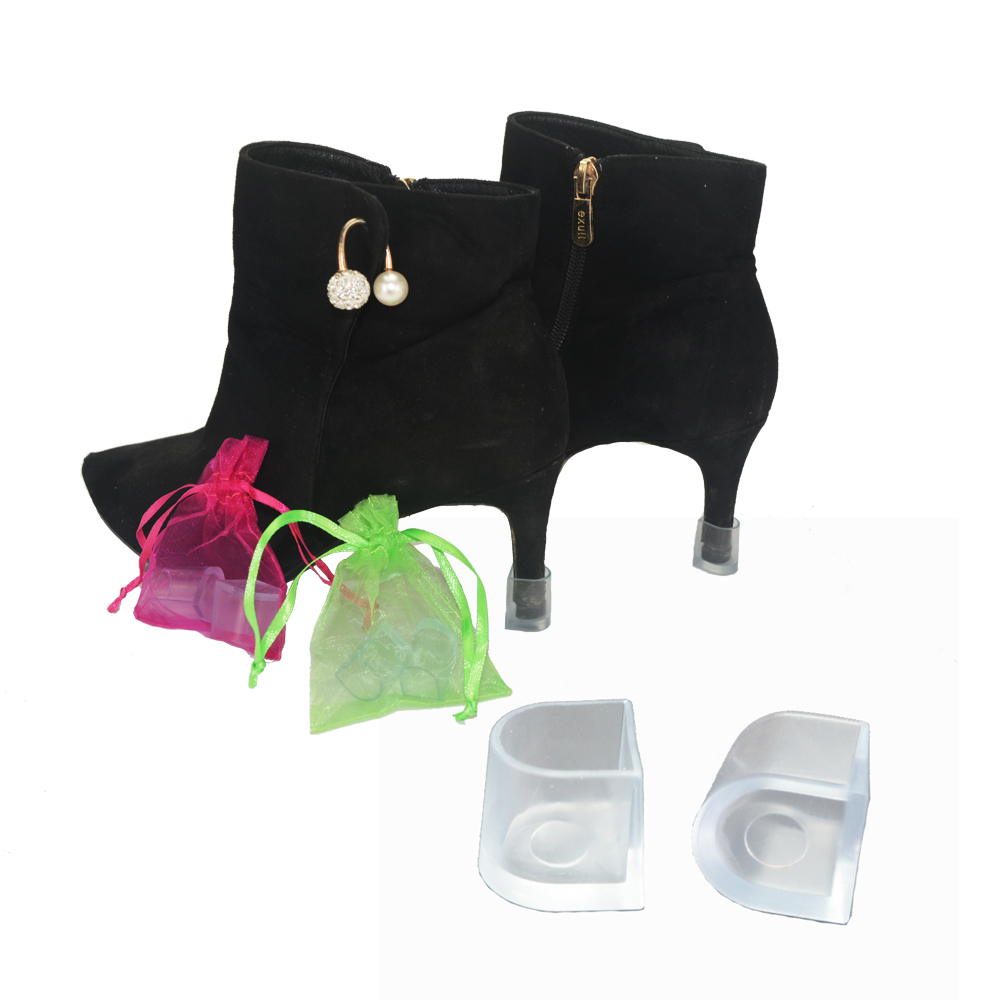 70 Pairs / Lot Heel Protectors High Heeler Antislip Silicone Latin Stiletto Dancing Shoes Covers Heel Stoppers For Wedding Party 5 pairs slica gel silicone shoe pad insoles women s high heel cushion protect comfy feet palm care pads accessories