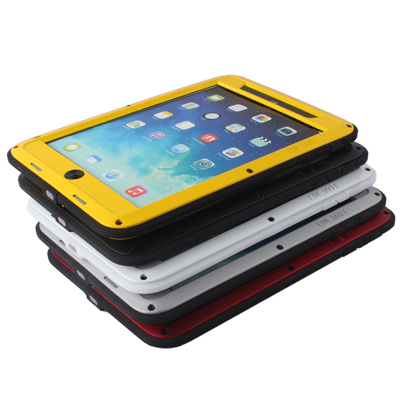 Fashion Aluminum Metal Case For iPad Outdoor Waterproof Underwater Drving Phone Bag Shock/Dust Proof Cover #61304
