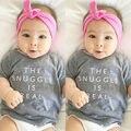 Новорожденные Дети Летние Футболки Одежда Baby Boy Девушка Короткие SleeveT Рубашки Наряд Топы Tee Повседневная Одежда