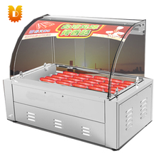 Commercial hot dog roller machine sausage roasting machine with 7 rollers