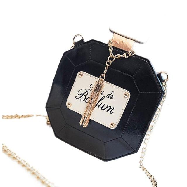 2017 Evening Bags Leather Perfume Bottle Chain Mini Clutch Bag 2017 Women Handbag Fashion Party Women Bags