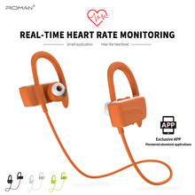 Roman bluetooth earphone wireless smart Heart rate earbud Noise reduction Life waterproof With packing