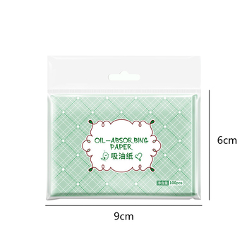 100Pcs Oil Absorbing Paper Soft Comfortable Refreshing Make Up Blotting Balance Grease Professional Facial Clean Green Tea Smell