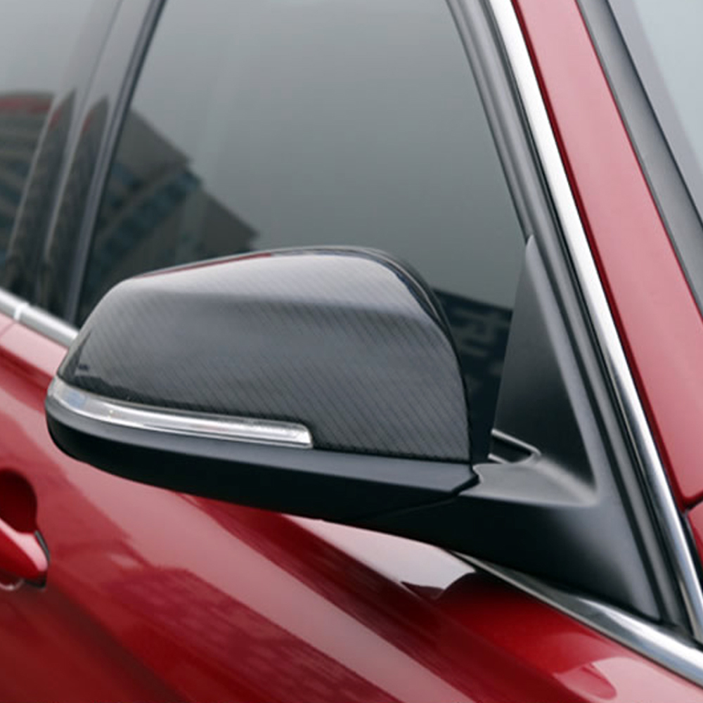X1 E84 Carbon Fiber Replace Car Outside Wing Mirror Cover Cap Trim for BMW X1 E84 2009-2015