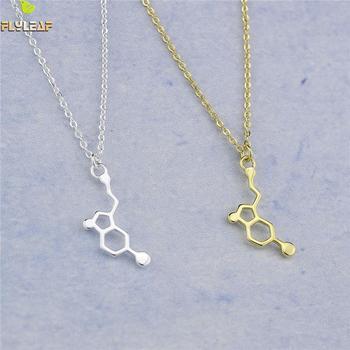 27cf4c1f3bea Flyleaf plata esterlina 925 joyería dopamina estructura Molecular química  collares y colgantes para las mujeres regalo romántico de la muchacha