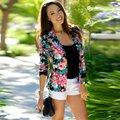 Hight Qualidade Primavera Das Mulheres Um Botão Jaqueta Blazer Terno de Negócio Magro Ocasional Outwear Casaco Floral