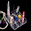 9 Сетки Ящик Для Хранения Косметических Ювелирные Изделия Прозрачный Кристалл Косметический Организатор Макияж Box