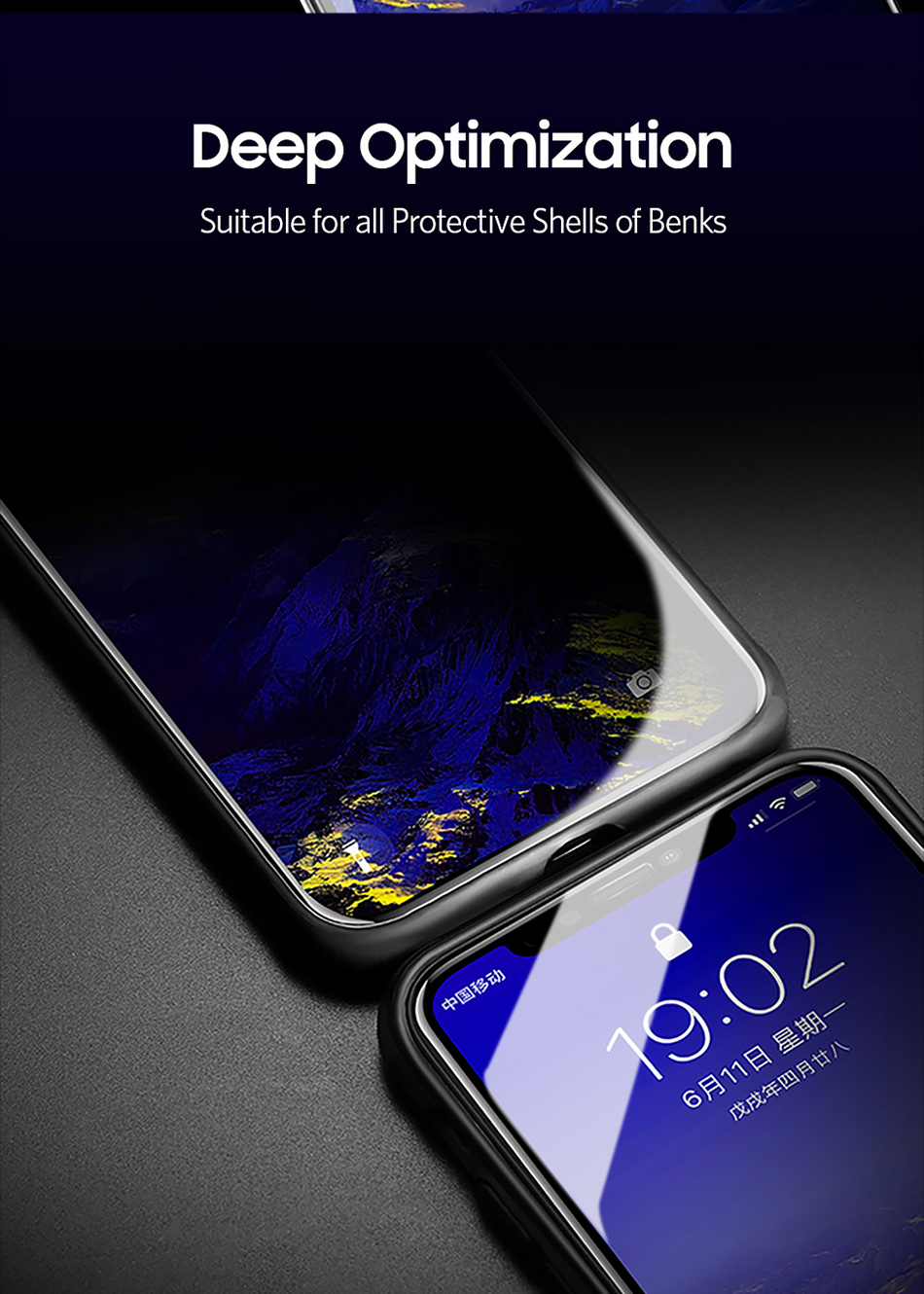 Benks Anti Spy Tempered Glass For iPhone XS 5.8`` XS MAX 6.5`` Full Protection Cover For XR 6.1 Screen Protector Anti Glare Front Film (9)