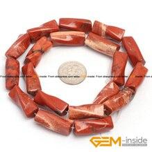 9x20mm columna giro cuentas de jaspe rojo natural piedra granos flojos para hacer la joyería strand 15 pulgadas al por mayor!