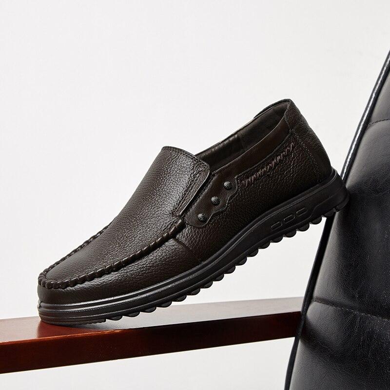 Casual En Daim Papa Geniune 5892 Mode Cuir Ronde Gentleman Épais De Doux Chaussures Imperméable Mâle top Confortable Hommes 8q0a6nw