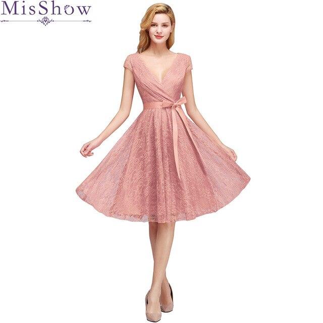 Cocktail Dress Summer V-Neck Short Sleeve Floral Lace Women Party Fashion Designer Short Cocktail Gowns 2019 Party Dresses