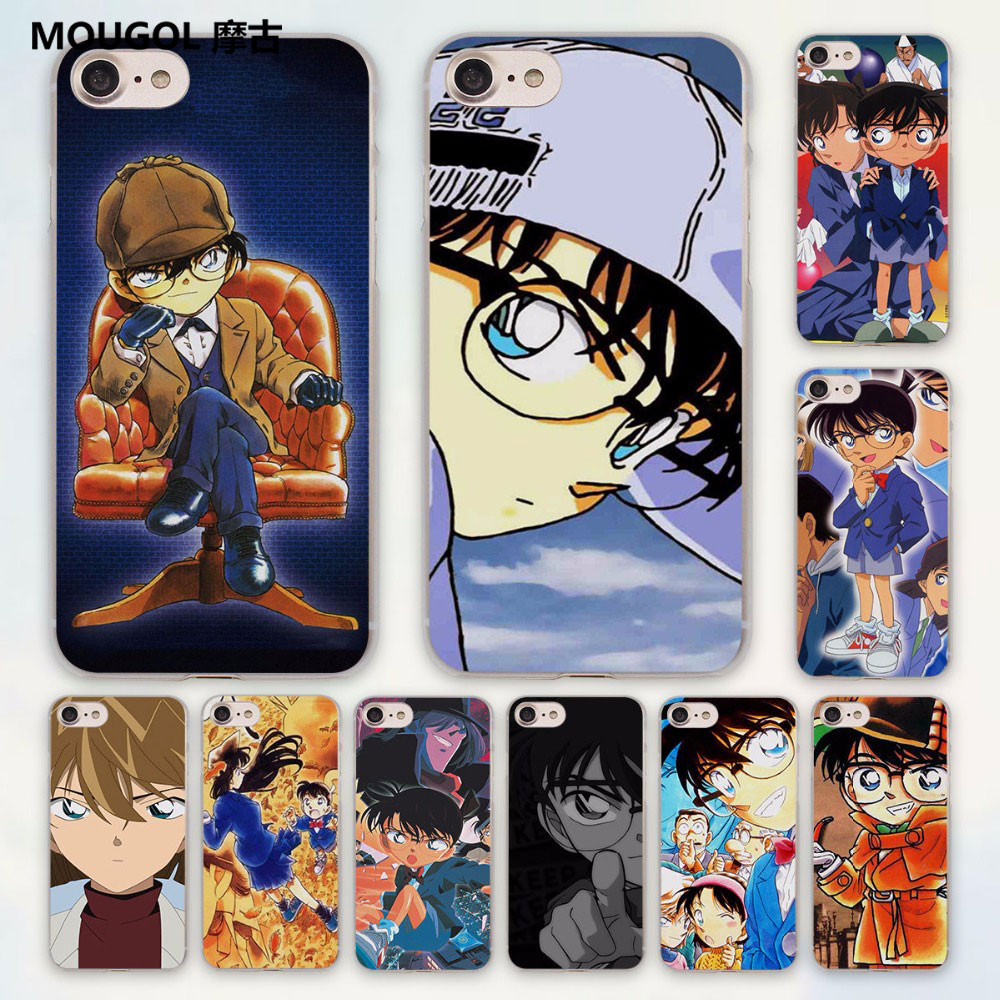 MOUGOL anime Detective Conan There is only one truth design hard clear Case Cover for Apple iPhone 7 6 6s Plus SE 4s 5 5s 5c Pho