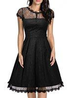 Elegant Couture Lace Short Sleeved Long Zipper Beautiful Dress For Women Dropshipping MND075