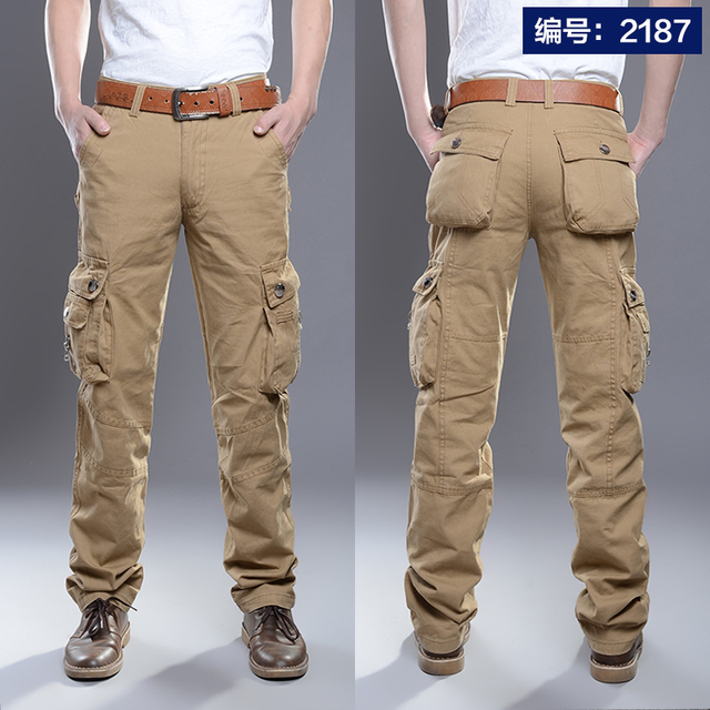 Cargo Pants Men Combat SWAT Army Military Pants Cotton Many Pockets Stretch Flexible Man Casual Trousers  Plus Size 28- 38 40 19