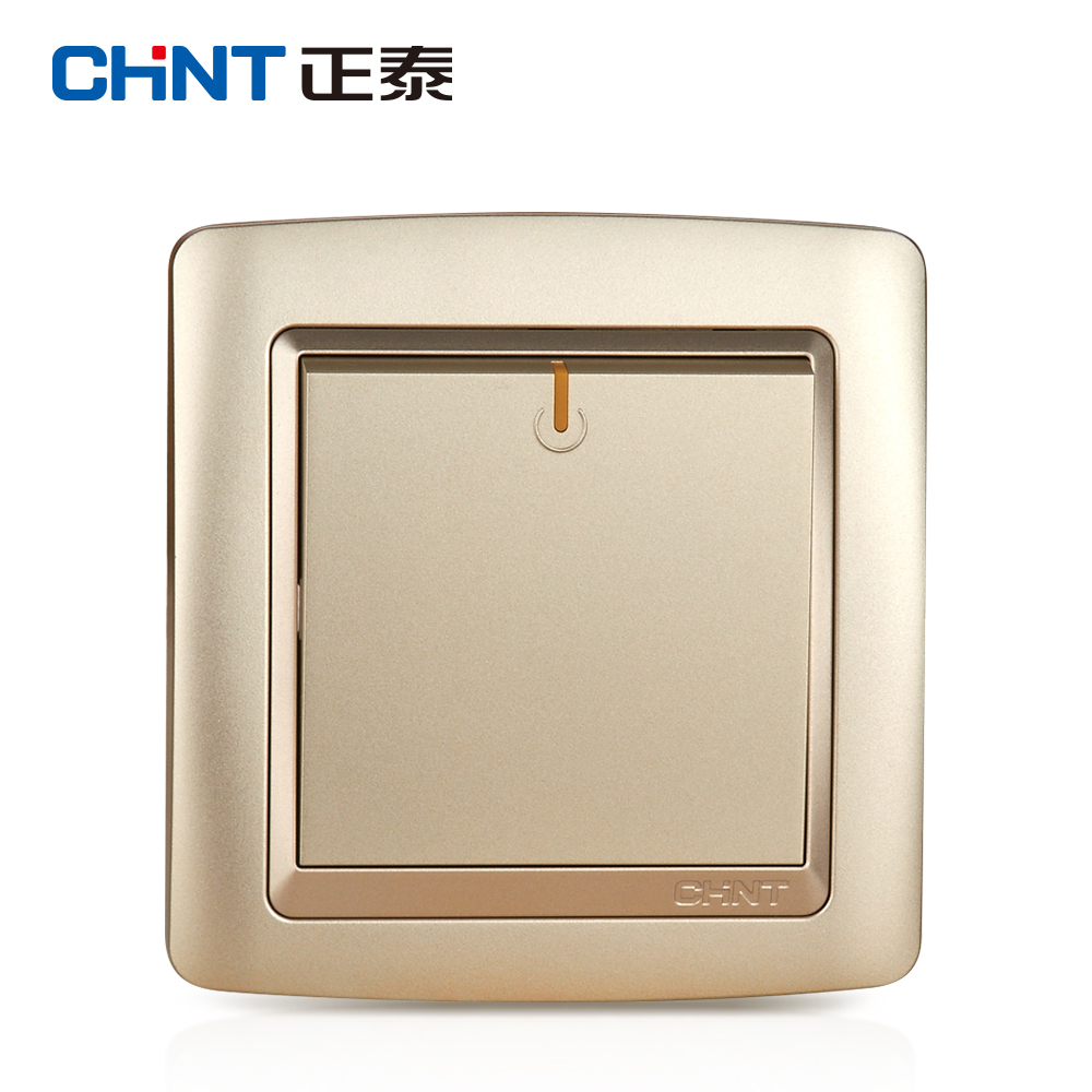 CHINT Electric Lamp Switches NEW2K Switch Light Champagne Gold One ...