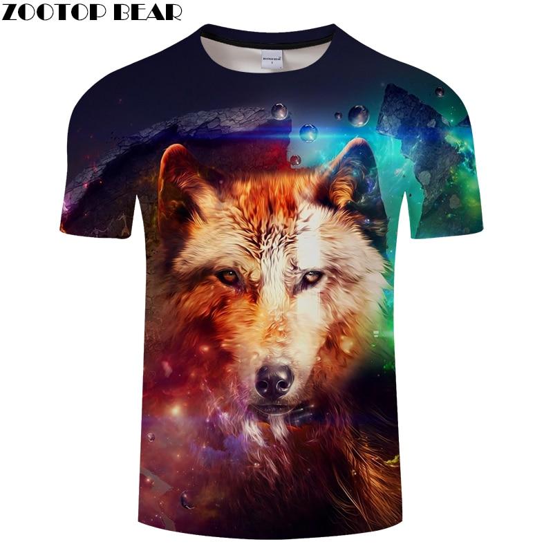 Wolf Print 3D T shirts Men Women tshirts Summer Casual Short Sleeve O-neck Tops&Tees 2018 Camisetas Unisex Drop Ship ZOOTOP BEAR