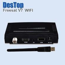 5 pcs [Genuine] Freesat V7 com USB Wi-fi DVB-S2 HD Receptor de Satélite TV Suporte PowerVu Youporn Cccamd Newcamd Biss Chave por DHL(China (Mainland))