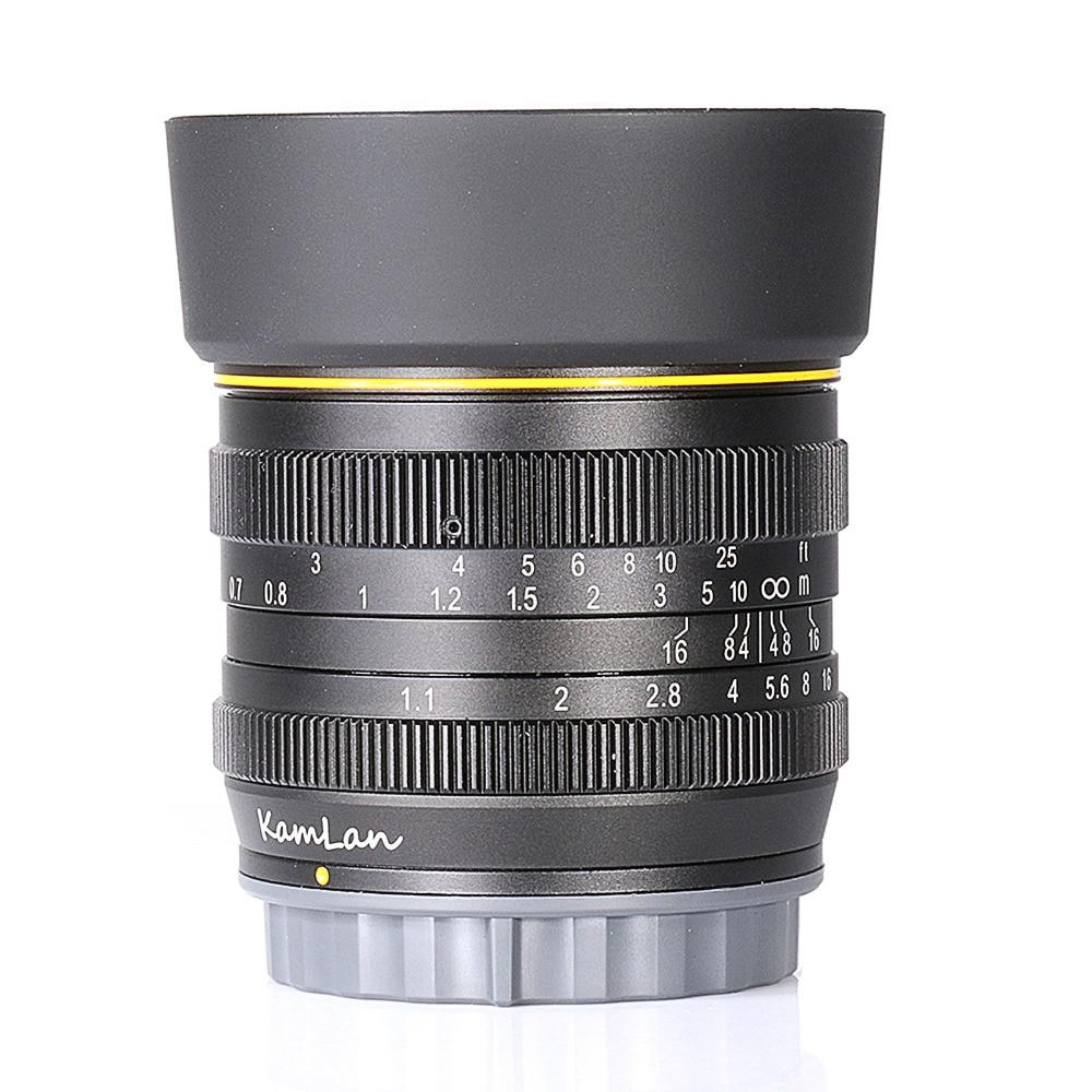 Новый стиль Kamlan 50 мм F1.1 APS-C большой апертурой ручная фокусировка объектива для sony E-Mount Бесплатная доставка