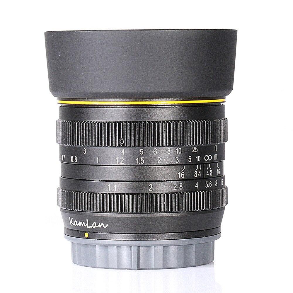 Neue stil Kamlan 50mm F1.1 APS-C Große Blende Manueller Fokus Objektiv für Sony E-Mount kostenloser versand