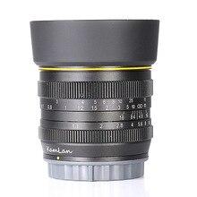 Neue stil Kamlan 50mm F1.1 APS C Große Blende Manueller Fokus Objektiv für Sony E Mount Kostenloser Versand