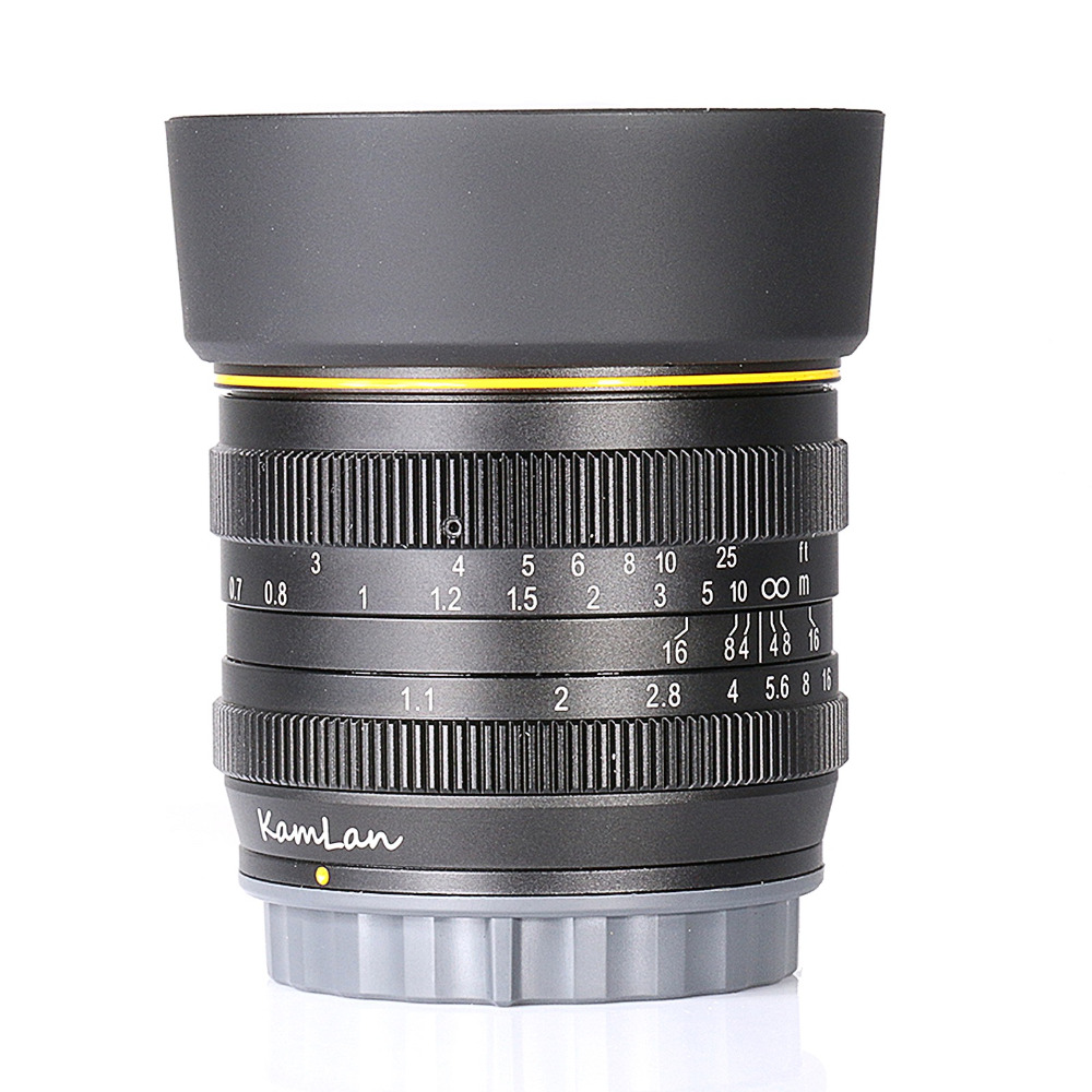 new style Kamlan 50mm F1.1 APS C Large Aperture Manual Focus Lens for Sony E Mount Free Shipping-in Camera Lens from Consumer Electronics    1
