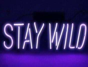 Custom Stay Wild Neon Light Sign Beer Bar