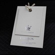 Высокое качество 700 г белая бумага пользовательских одежда печати повесить швейные теги Дизайн