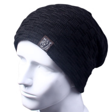 Casual Brand Men Winter Hat Beanie Hats Fur Warm Baggy Knitted Skullies Bonnet Ski Sports Adult
