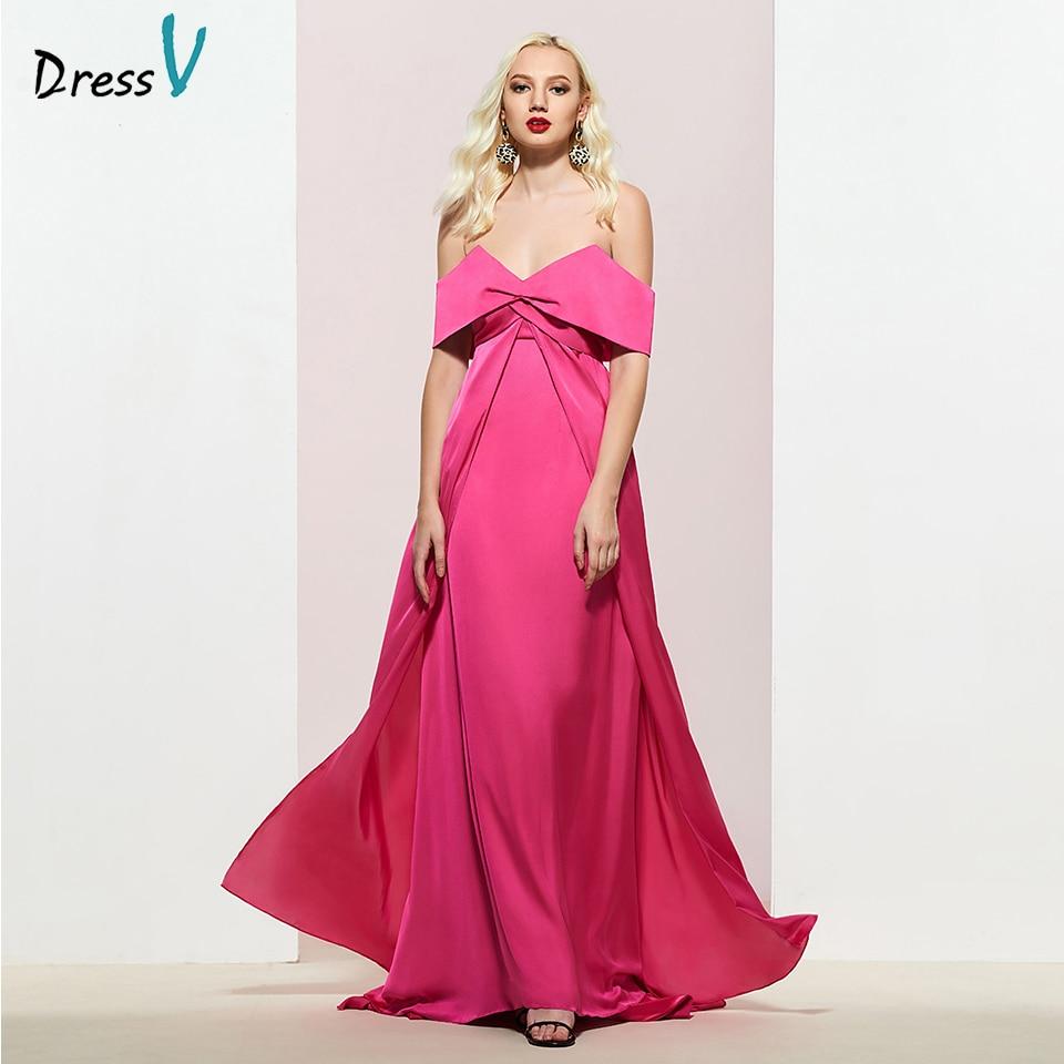 Dressv Party-Gown Evening Elegant Off-The-Shoulder Sleeveless Custom A-Line Floor-Length