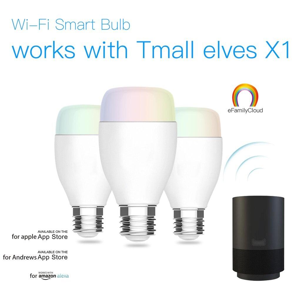 WI-FI умная лампа E27 супер яркий WI-FI App дистанционного Управление RGBW сроки лампочки Смартфон дистанционного Управление лампы ...