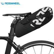 ROSWHEEL Large Capacity 8L/10L Waterproof Bike Saddle Rear Bag Bicycle Accessories MTB Road Bike Cycling Rear Seatpost Bag