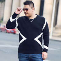 Plus Size Sweater Pullover Men 2017 New Male Casual Loose Sweaters High Quality Hedging O Neck