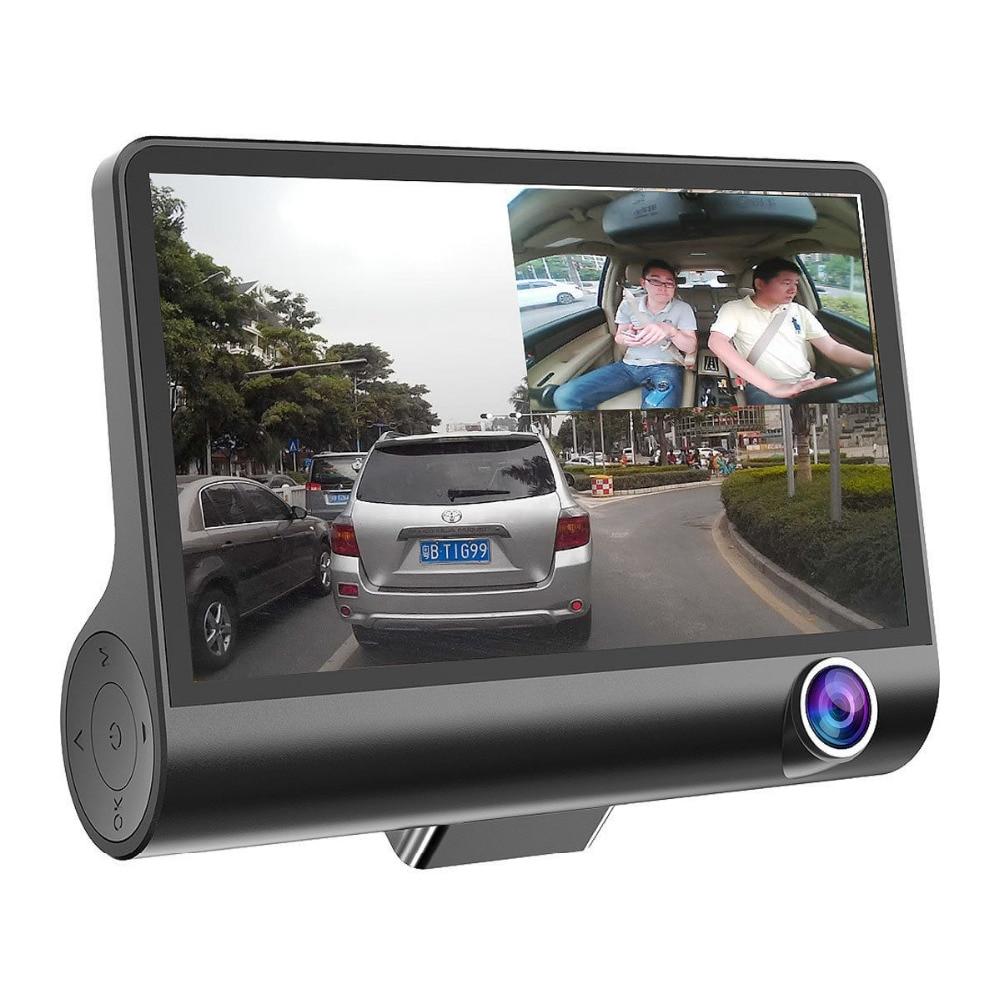 1080P 3 Lens Car DVR Camera Portable Vehicle Blackbox Night Vision Dash Cam Three Cameras Drive Video Recorders Gravity Sensor