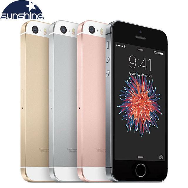 """Оригинальное разблокирована Apple iPhone SE телефон 4 г LTE мобильный телефон Dual Core 4.0 """"12MP IOS 2 г Оперативная память 16/64 ГБ Встроенная память смартфона"""