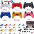 New Bluetooth Wireless Game PS 3 Controller With LOGO like original For sony playstation 3 PS3 SIXAXIS Controle Joystick Gamepad