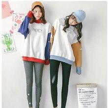 Letter Printed Cute Patchwork Sweatshirts