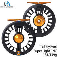 Maximumcatch Maxcatch Tail Fly Fishing Reel Super Light Weight 131g 139g Large Arbor CNC Machined Teflon Disc Black Fly Reel