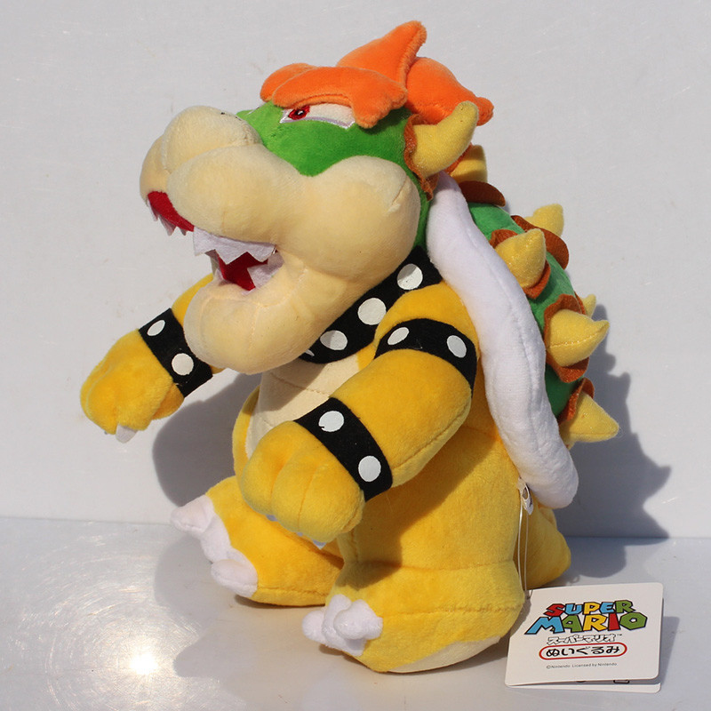 EMS 20pcs 10 25cm Super Mario Standing Bowser Koopa Stuffed Plush Dolls Toys free shipping