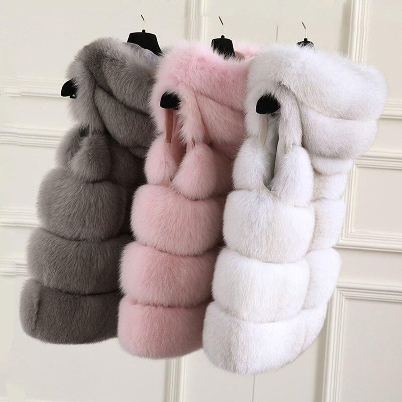 TOPFUR 2018 New Real Fox Fur Vest For Women Natural Fox Fur Coat With Hood Luxury Winter Fur Jacket High Quality Real Fur