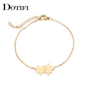 Женский браслет DOTIFI, из нержавеющей стали, золотистого и серебристого цвета
