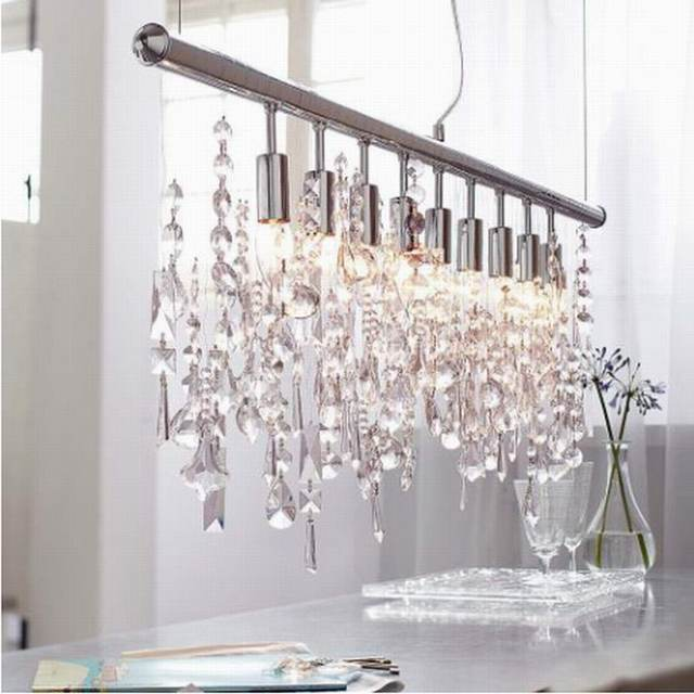 new design modern chrome large lustre lumiere k9 led crystal