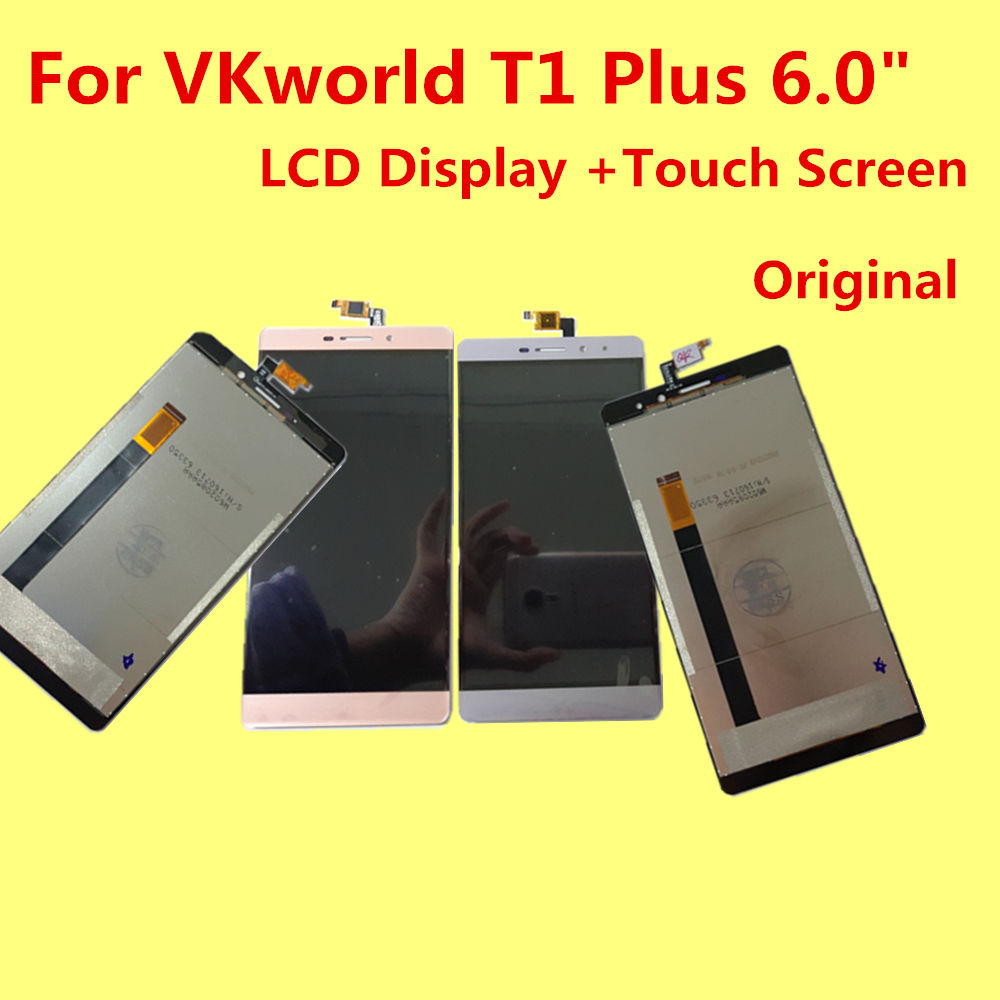 For VKworld T1 Plus LCD Display +Touch Screen+Tools Original Digitizer Assembly Replacement Accessories For Phon 6.0 MTK6735 replacement original touch screen lcd display assembly framefor huawei ascend p7 freeshipping