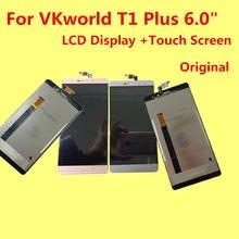 Для vkworld T1 плюс ЖК-дисплей Дисплей + Сенсорный экран + Инструменты оригинальный дигитайзер сборка Замена Аксессуары для фононов 6.0 «MTK6735