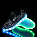 Hot Sale kids glowing sneakers for girls boys tenis led infantil carregamento usb children LED sneakers with light soles