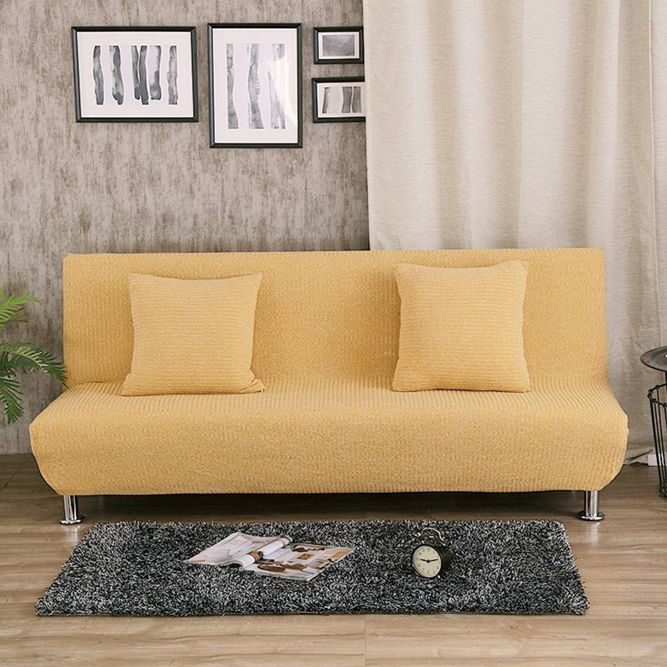 Fantastic Us 34 44 59 Off Uuiversal Stretch Sofa Bed Covers For Living Room Armless Couch Sofa Slipcovers Removable Covers For Sofa Bed Yellow Slipcovers In Bralicious Painted Fabric Chair Ideas Braliciousco