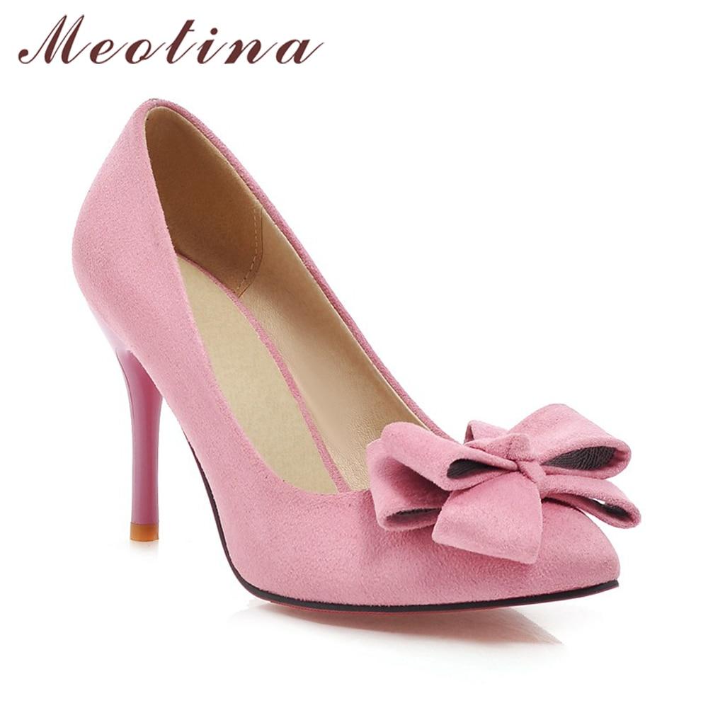Meotina Últimos Zapatos Mujeres Bombas Primavera Punta estrecha - Zapatos de mujer - foto 3
