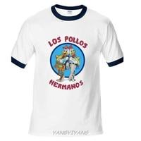 Men S Fashion Breaking Bad Shirt LOS POLLOS Hermanos T Shirt Chicken Brothers Raglan Sleeve Tee