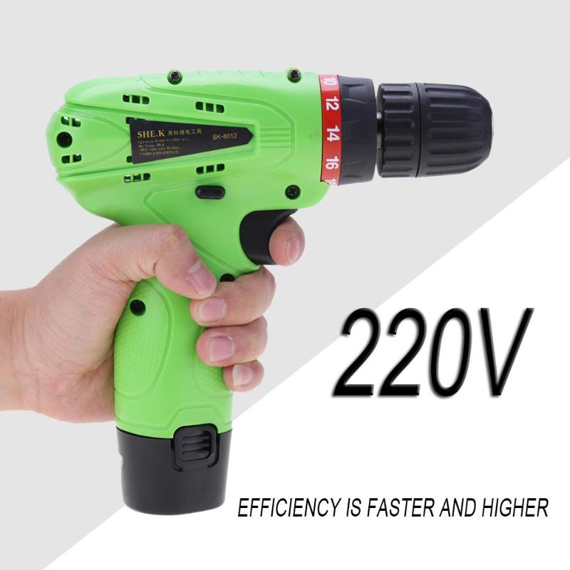 12V Mini Electric drill Mobile Power Supply Lithium-ion Battery Screwdriver Cordless Drill Home Electric Drill SK-8012 12v cordless electric drill household mobile power supply lithium ion battery screwdriver cordless electric drill power tools